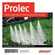 Penetrant, Acidifier, Nonionic Surfactant, Deposition & Drift ... - Brandt