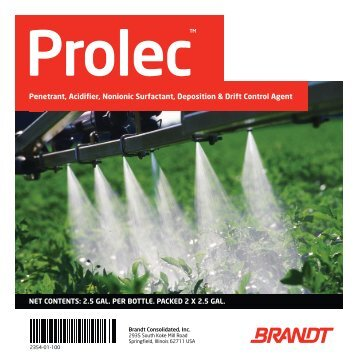 Penetrant, Acidifier, Nonionic Surfactant, Deposition & Drift ... - Brandt