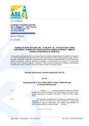 Sede Legale : Via Bertani, 4 - ASL n.3 Genovese