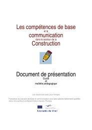 Les compétences de base communication Construction Document ...