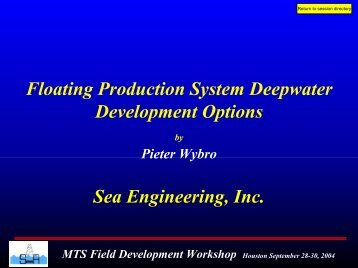 Deepwater Field Development - Floating Production System ...