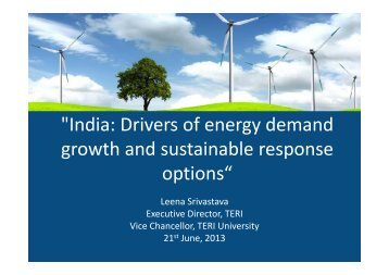 Drivers of Energy Demand Growth and Sustainable Response Options