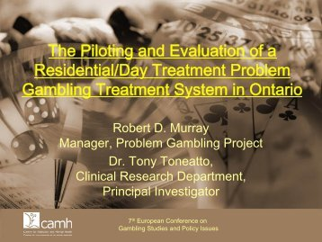 The piloting and evaluation of a residentional day treatment system ...