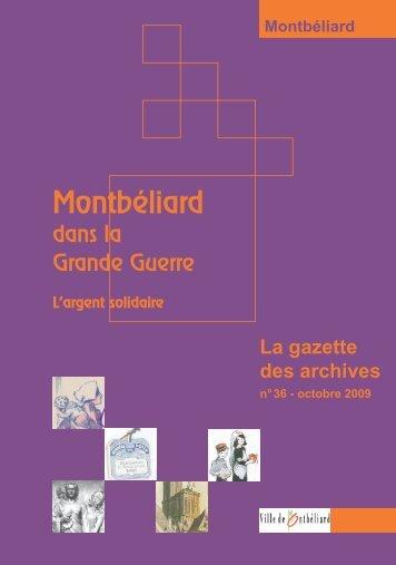 Gazette n°36 - Montbéliard