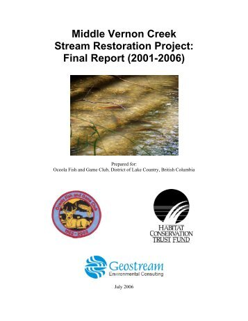 Middle Vernon Creek Stream Restoration Project ... - Waterbucket
