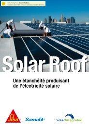 Une étanchéité produisant de l'électricité solaire - TALEV