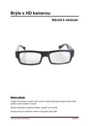 Návod k obsluze - brýle s HD kamerou