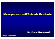 Management nell'Azienda Sanitaria g
