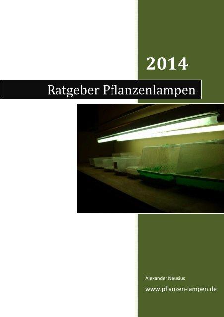 Ratgeber Pflanzenlampen - Pflanzen-Lampen.de