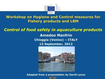 Control of food safety in aquaculture products