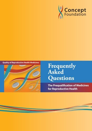 Frequently Asked Questions on the Prequalification of Medicines for ...