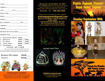 Royal Safari Pageant - Miss All Canadian Pageants