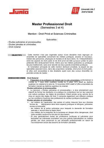 Fiche Pre Inscrip Ppe Master 1 2010 2011 Universita C Lille 2 Droit
