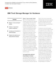 IBM Tivoli Storage Manager for Hardware
