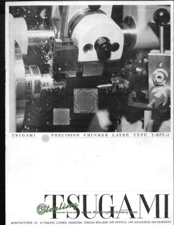 Tsugami Brochure - Sterling Machinery