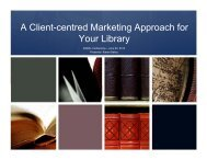 A Client-centred Marketing Approach for A Client centred Marketing ...