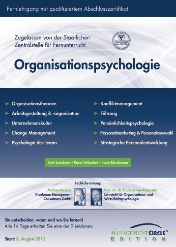 Fernlehrgang: Organisationspsychologie - Management Circle AG