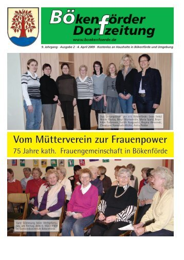 Bökenförder Dorfzeitung - in Bökenförde!