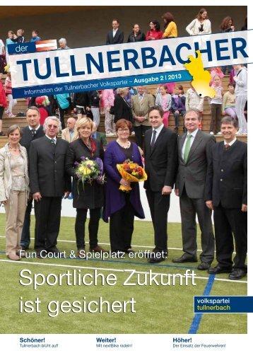 Sportliche Zukunft ist gesichert Sportliche Zukunft ... - VP Tullnerbach