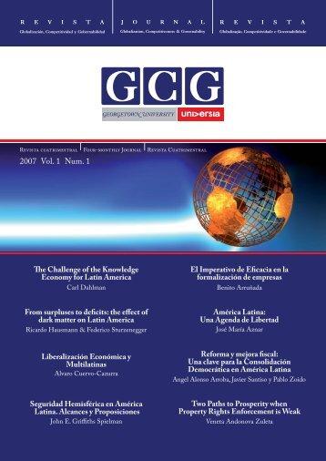 2007 Vol. 1 Num. 1 - GCG: Revista de Globalización, Competitividad ...