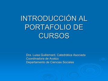 PORTAFOLIO DE CURSOS - UPRM