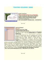 TEATRO GIUGNO 2008 - Comune di Napoli