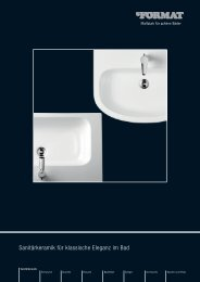 FORMAT Sanitärkeramik für klassische Eleganz im Bad