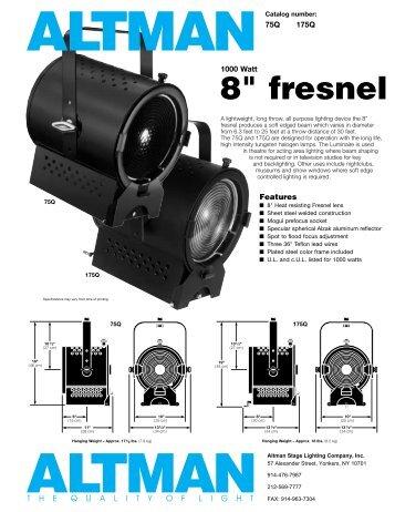 """8"""" fresnel - Schell Scenic Studio, Inc."""