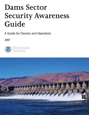 DHS, Dams Sector Security Awareness Guide - State of New Jersey