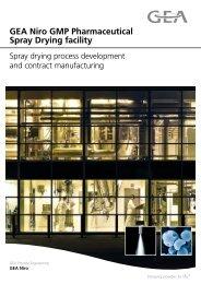 GEA Niro GMP Pharmaceutical Spray Drying facility