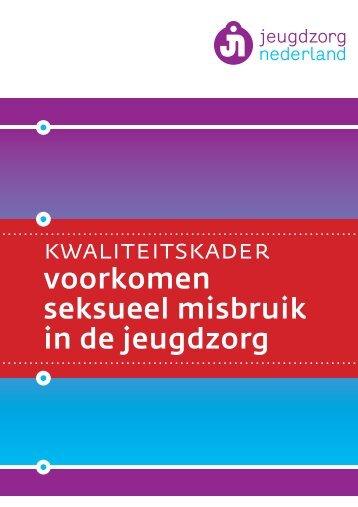 Kwaliteitskader Voorkomen Seksueel Misbruik in de ... - Stichting SKIP