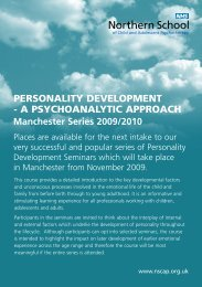 Northern School of Child and Adolescent Psychotherapy