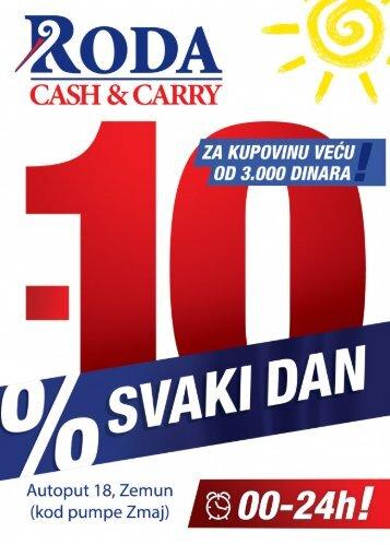 10% popusta svaki dan u Roda Cash&Carry; Beograd