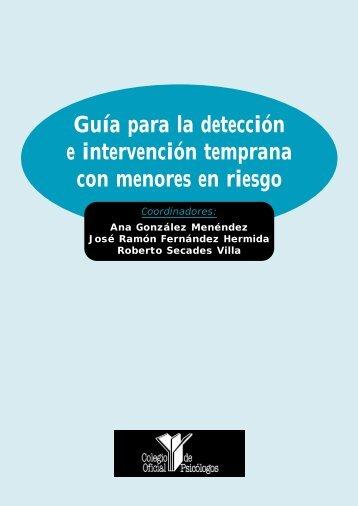 Guía para la detección e intervención temprana con menores en ...