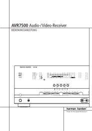 AVR7500 Audio-/Video-Receiver - Aerne Menu