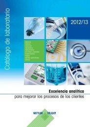 Catálogo de laboratorio - Mettler Toledo