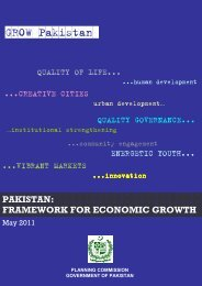pakistan: framework for economic growth - Planning Commission