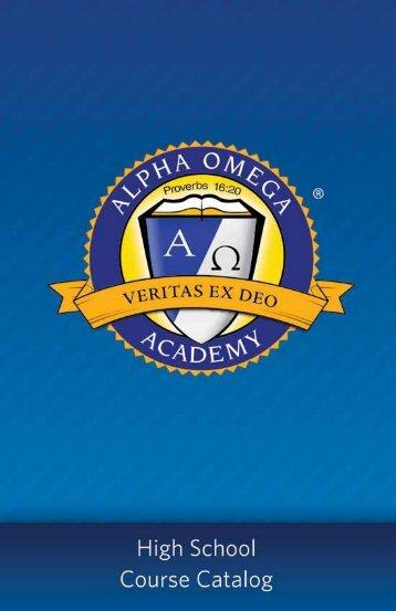 View High School Course Catalog - Alpha Omega Academy