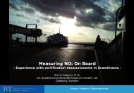 Measuring NOx On Board - Experience with certification ...