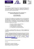 6th - 8th March 2013 University of Konstanz MSLife ... - affinityms.de - Page 2
