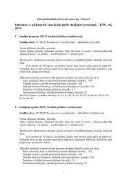 Sociální práce s poradenským zaměřením - Filozofická fakulta