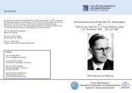 Ehrenkolloquium aus Anlass des 100. Geburtstages von Prof. Dr ...