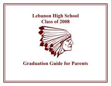 Lebanon High School Class of 2008 Graduation Guide for Parents