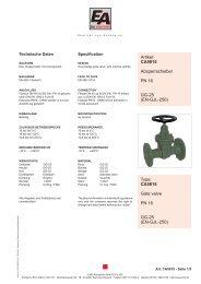 CA5015 Gate valve PN 16 GG-25