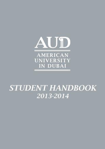 AUD Student Handbook - American University in Dubai