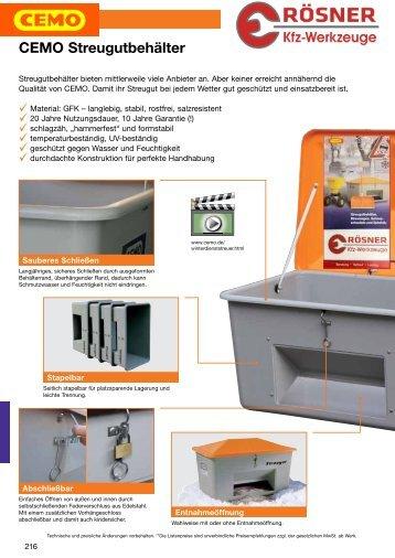 CEMO Streugutbehälter - Rösner KFZ Werkzeuge