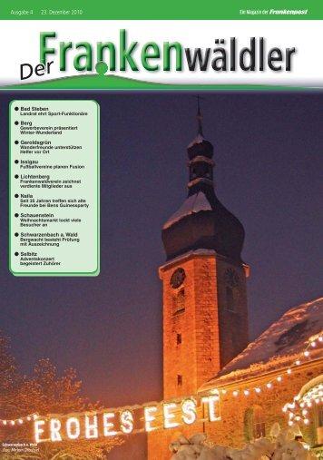 Ein Magazin der Frankenpost Ausgabe 4 23. Dezember 2010
