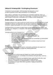 Idrætspolitik udkast vers 1 - Vordingborg Kommune
