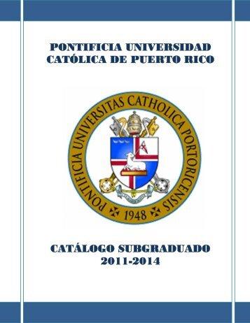 Catálogo SubGraduado 2011-2014 - Pontificia Universidad Católica ...