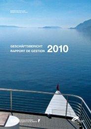 Geschäftsbericht 2010 - BSG - Bielersee Schifffahrt
